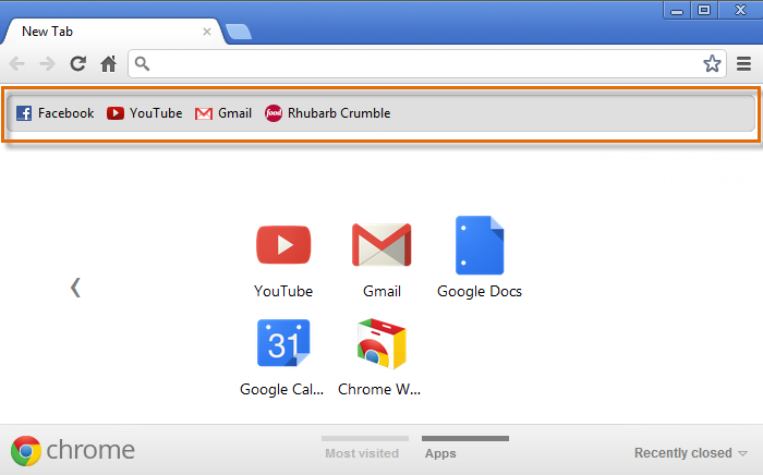 Chrome: Bookmarking in Chrome