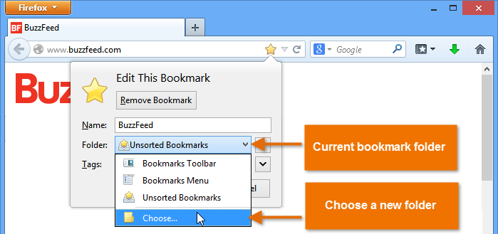 Firefox: Bookmarking in Firefox