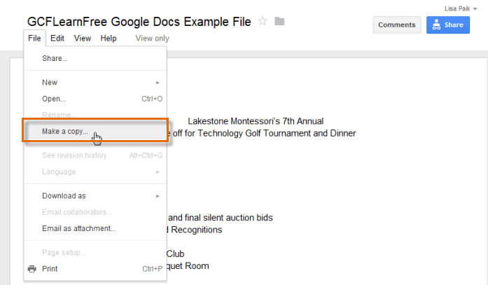 Google Docs: Inserting Text Boxes and Shapes