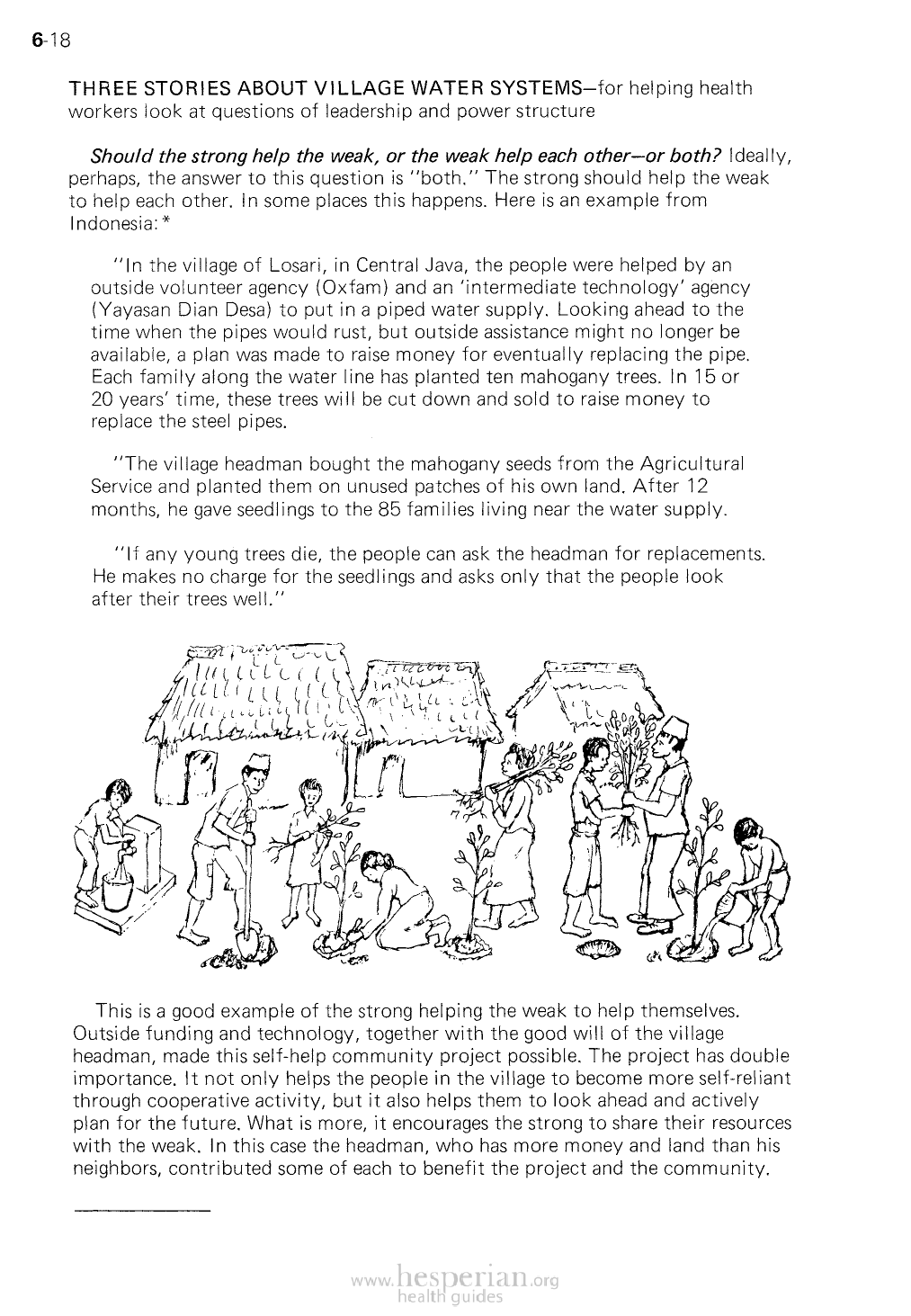 THREE STORIES ABOUT VILLAGE WATER SYSTEMS-for helpin